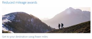 AAdvantage Reduced Mileage Award Screenshot