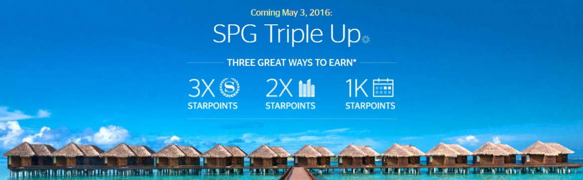 2016 SPG Triple Up Bonus Point Promotion