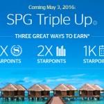 2016 SPG Triple Up Bonus Point Promotion