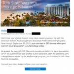 Convert SPG Points to AAdvantage Miles Bonus Points Promotion