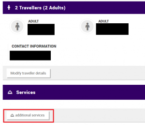 Thai Airways - Additional services